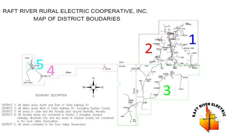 Map of district boundaries