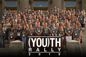 Large group of ICUA Youth Rally Participants 2019