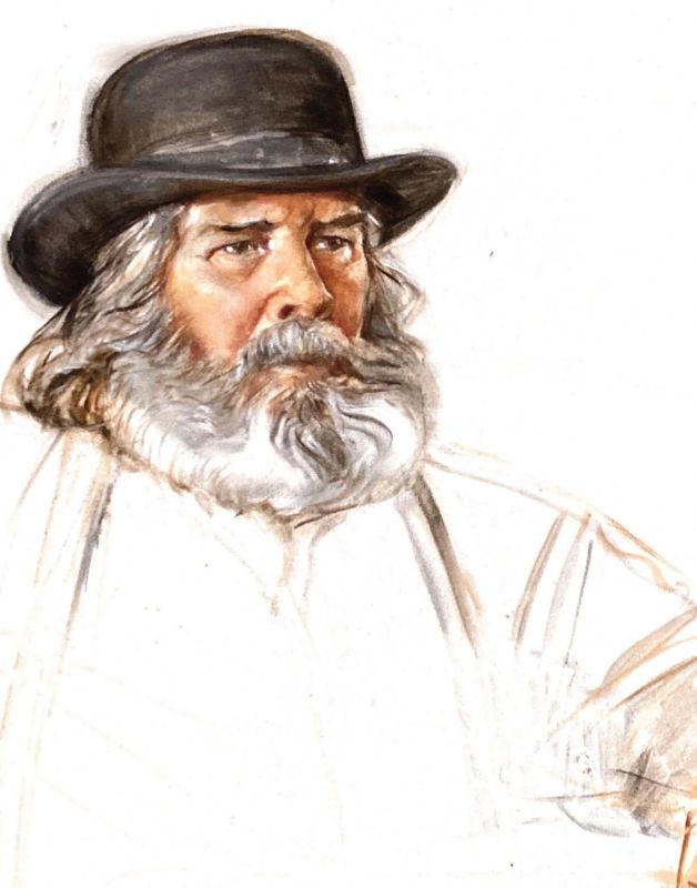 Newton, Utah-based artist Darla Bywater painted this portrait of her late husband, Darwin.