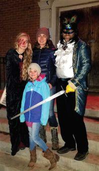 Mortensen family at Halloween
