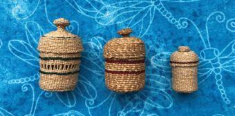 While teaching in Nikolski, Deanna wove intricate grass baskets.