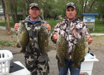 Mike Christensen, left, and Shane Osterhout, have competed in multiple bass tournaments throughout the past decade.
