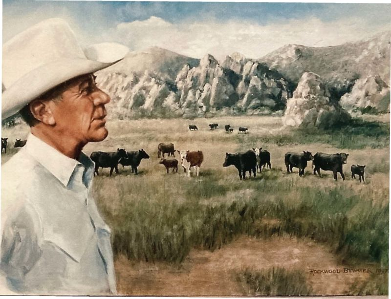 """The Gambler"" portrays Rancher Ordel Simper grazing his cattle at City of Rocks."