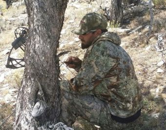 Daniel Tingle patiently waits for his prey. The avid hunter has harvested elk, deer, antelope and hog. Photo Courtesy of Daniel Tingle