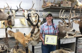Sara graduated with a diploma from a six-week taxidermy school in spring. She finished eight projects.
