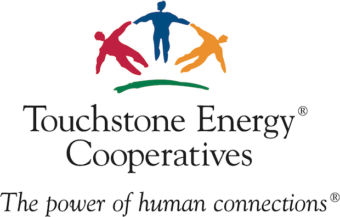"""Touchstone Energy® Cooperatives logo. """"The power of human connections"""""""